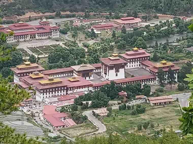 The Tashichhodzong fortress in Thimphu, Bhutan