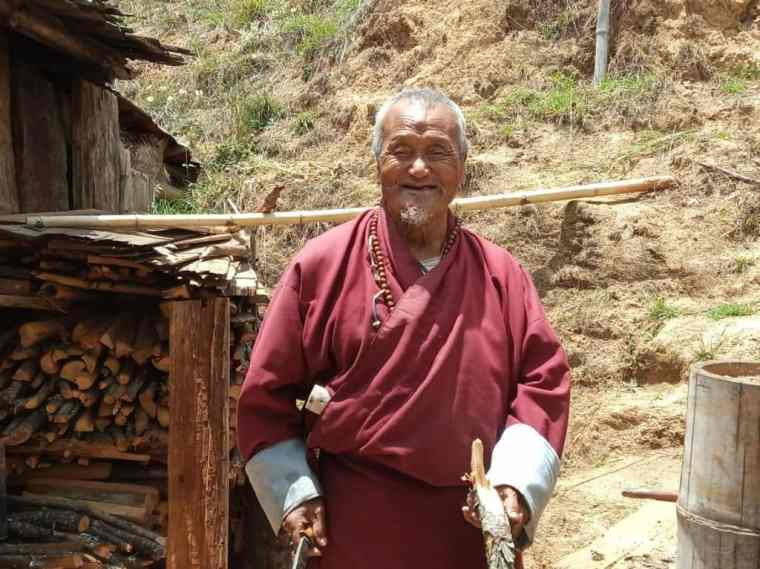 A Bhutanese man smiling