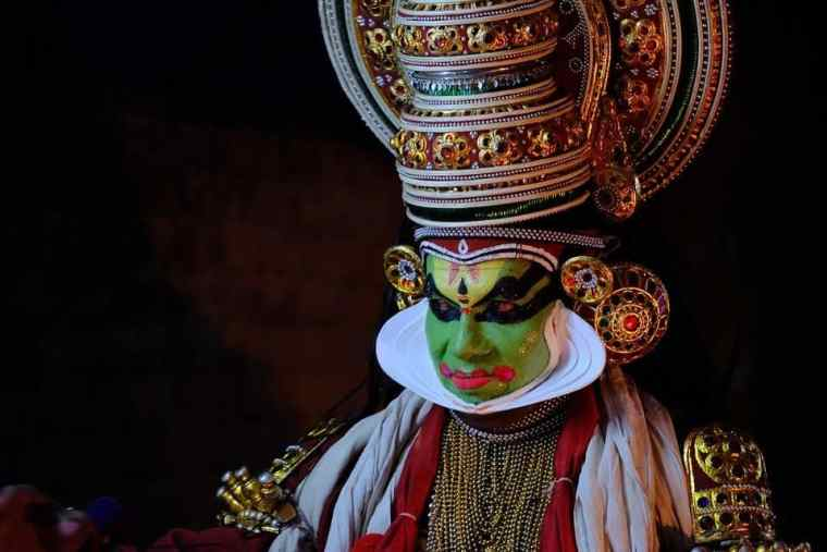 Kathakali Dancer, a traditional figure in Keralan culture