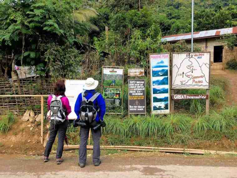 trailhead for viewpoint hike in Nong Khiaw
