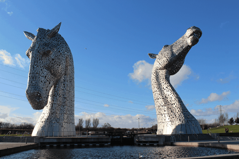 The Kelpies. Steel horse monument