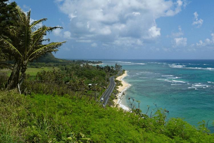 Vue Oahu, Hawaï