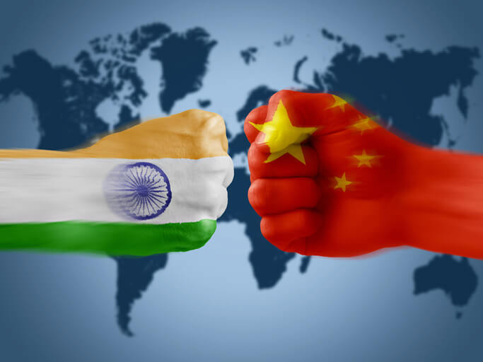 Conflicts broke out on the border between China and India, and disputes continued. (Schematic) Picture: Xie Gang's Twitter DHDECCAN HERALD