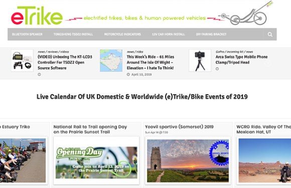 NEW – eTrike Live Events Calendar Shows All Trike Events Worldwide