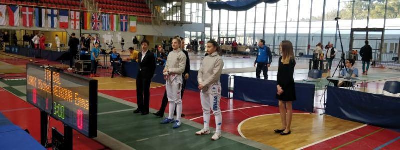 Европейско първенство в Хърватия Емма Нейкова кадетки сабя
