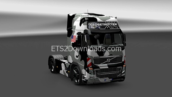 Volvo-US-Army-Snow-Skin-ets2