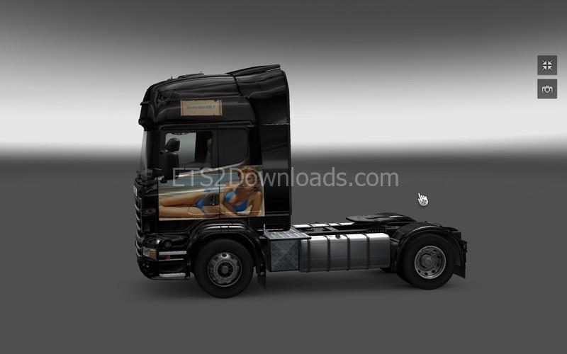 SCANIA V8 DEVILS GIRL [LAZYMODS] Skin - Euro Truck