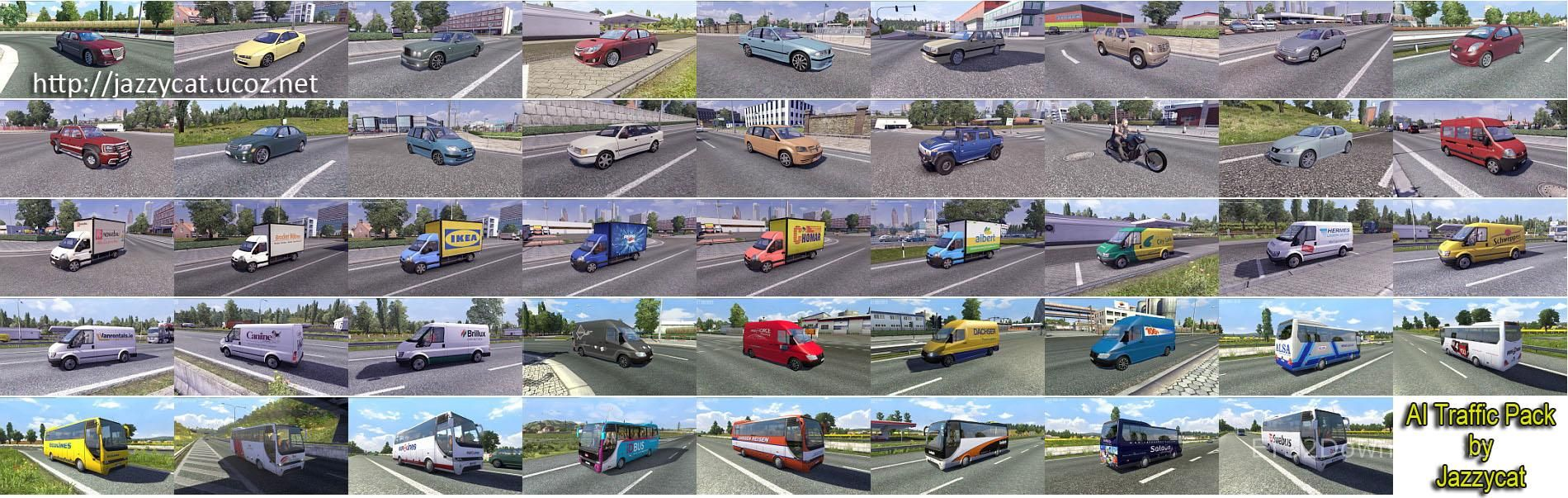 AI Traffic Pack by Jazzycat v7 5 - ETS2 Mods