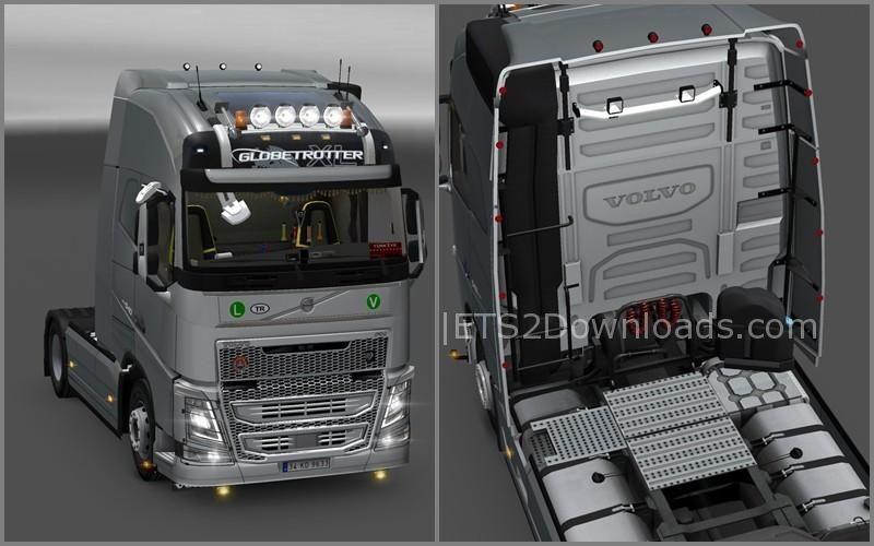 New Volvo FH16 Accessories + Interior v2.5 - ETS2 Mods