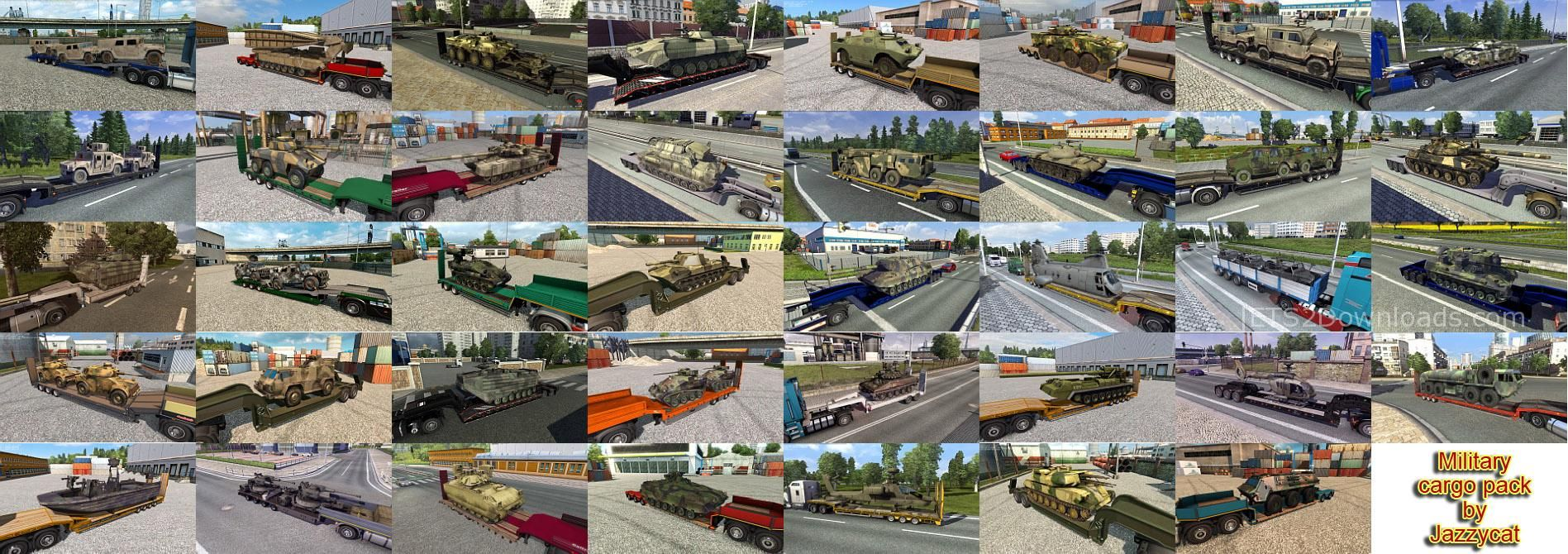 Addons For The Military Cargo Pack v2 3 From Jazzycat - ETS2
