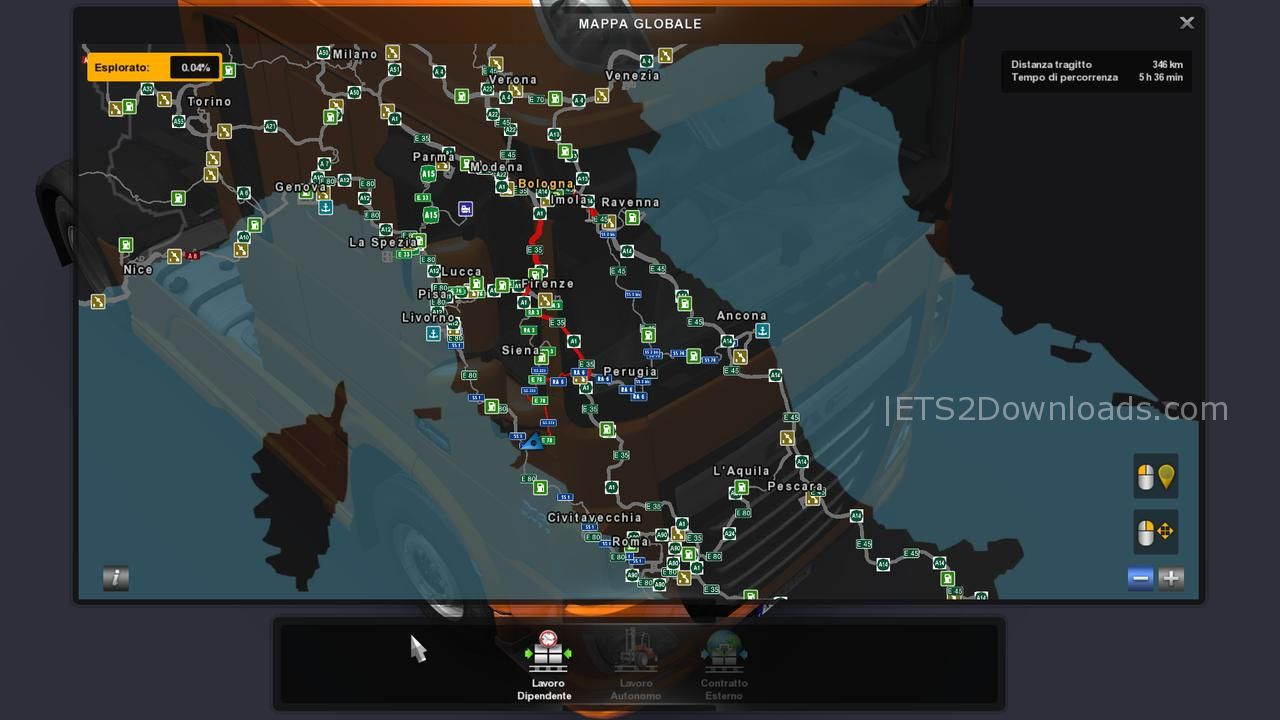Promods 2 20 and ItalyMap v2 0 fix - ETS2 Mods