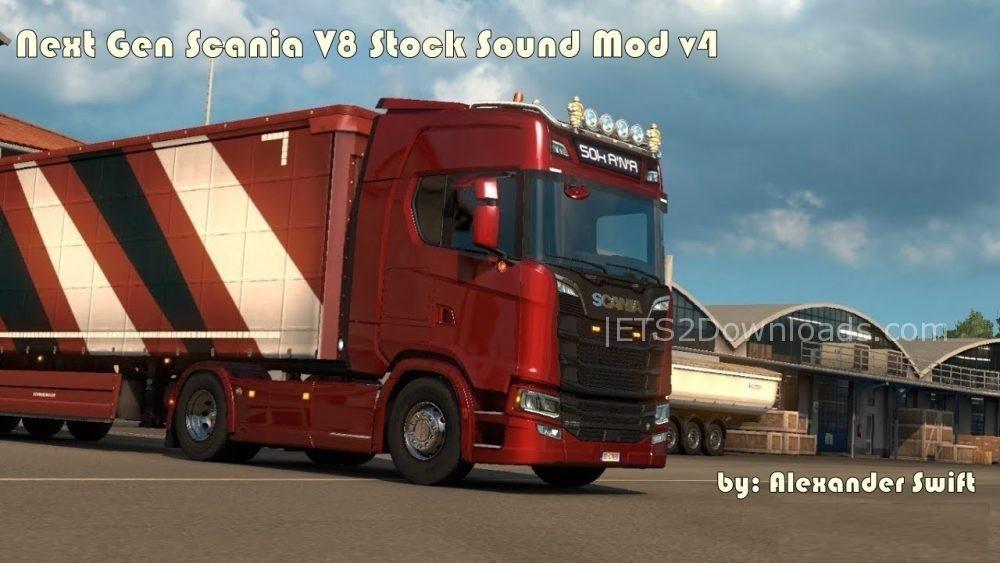 next gen scania v8 stock sound mod v4 0 ets2 mods