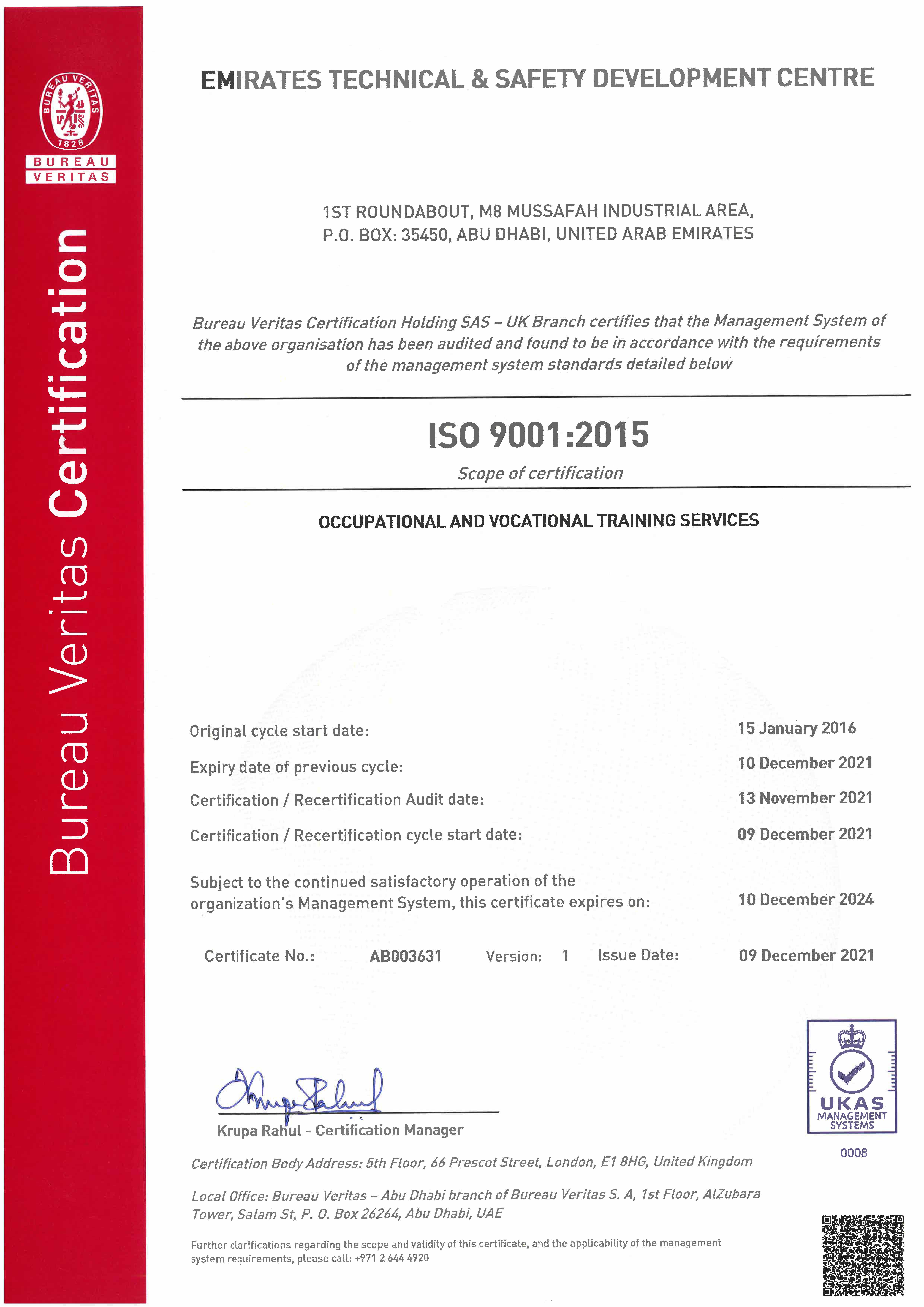 Security Certification Training