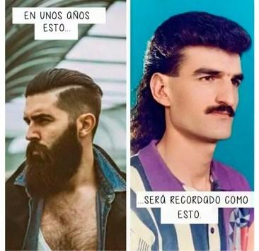 Un hipster y un modernillo de los ochenta.