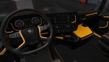 Black White Scania S & R Interior | ETS2 Mods
