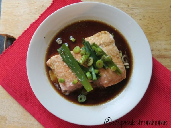 salmon fish with soy sauce