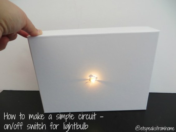 How to make a simple circuit - onoff switch for lightbulb - batteries