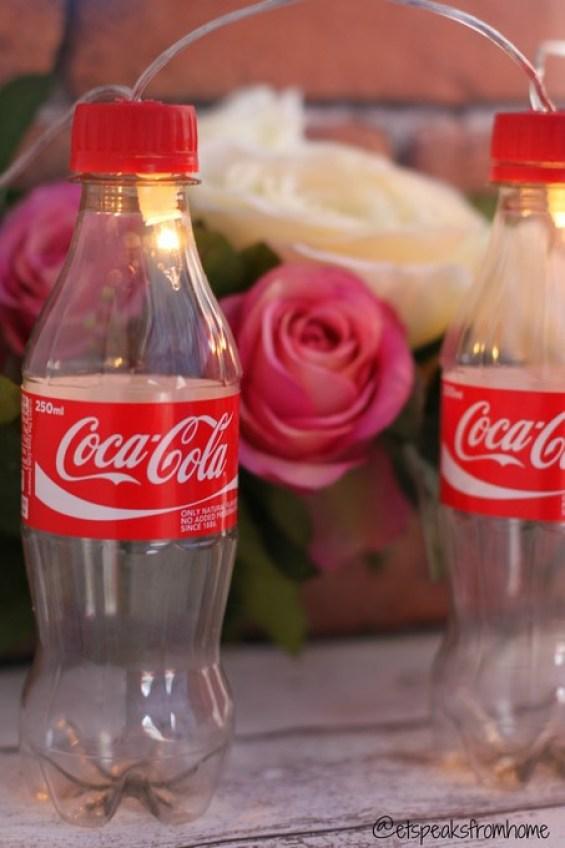 DIY coca-cola fairy light display