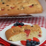Mixed Berry Traybake