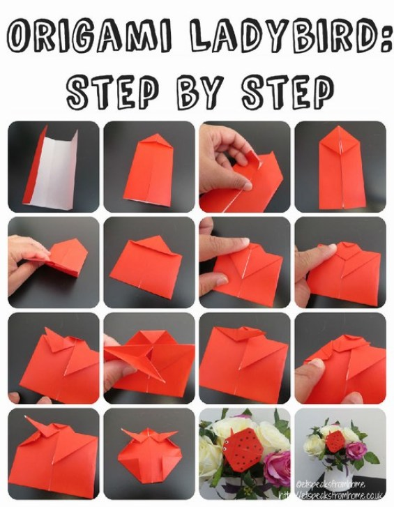 origami ladybird step by step