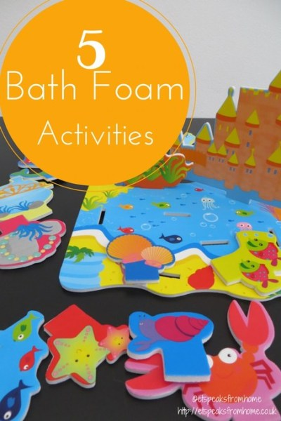 5 Bath Foam Activities