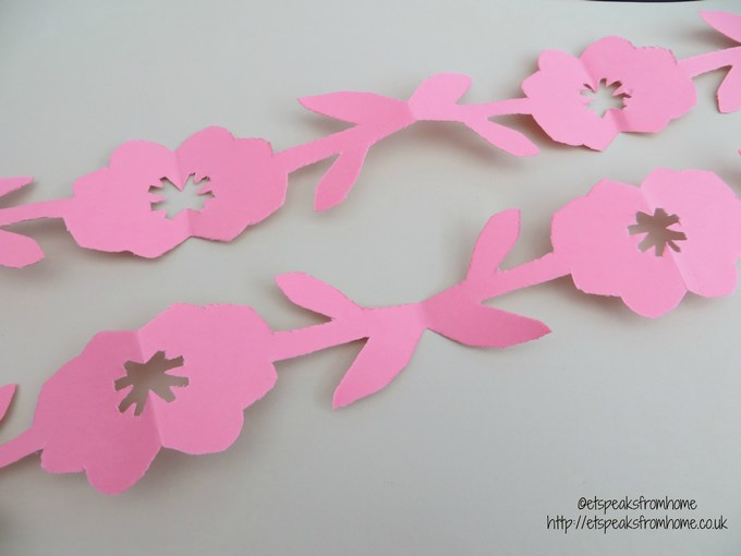 paper cut tulip  u0026 flower border