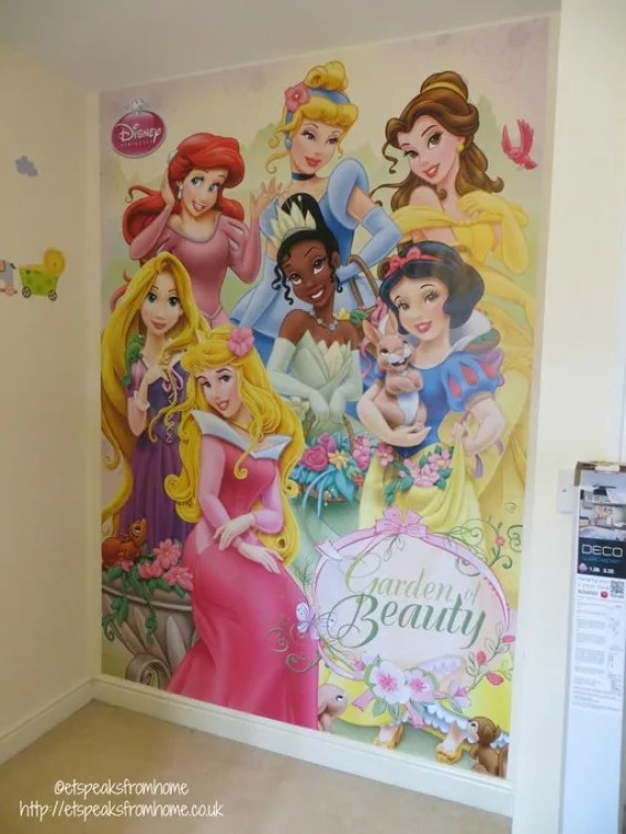 Disney princess wall mural finishing review