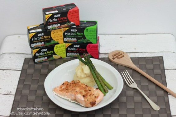 OXO Herbs & more herby salmon fillet