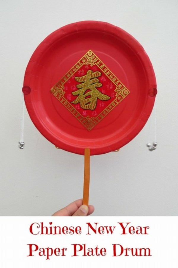 Chinese New Year Paper Plate Drum