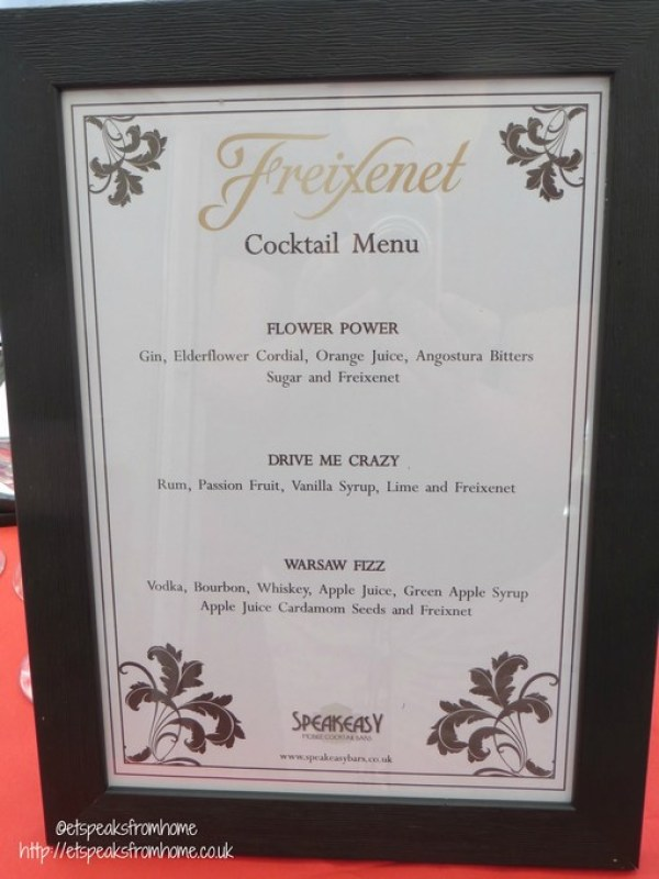 freixenet cocktail menu