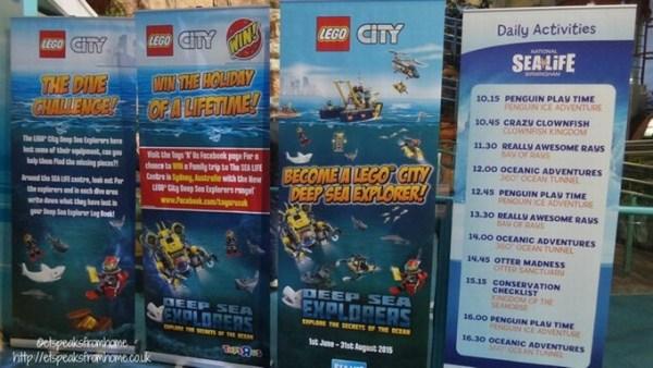 sea life centre lego dive challenge