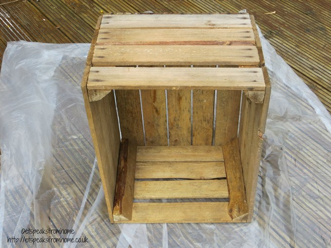 Upcycled Wooden Crate Stool With Lights Et Speaks From Home