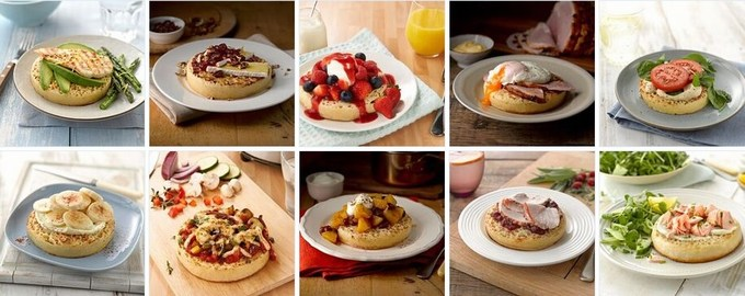 warburtons giant crumpets topping