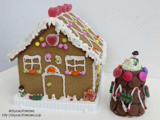 christmas tradition gingerbread house & chocolate christmas tree