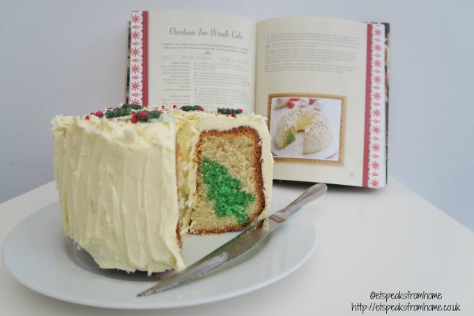 christmas tree wreath cake with sophie conran cake knife
