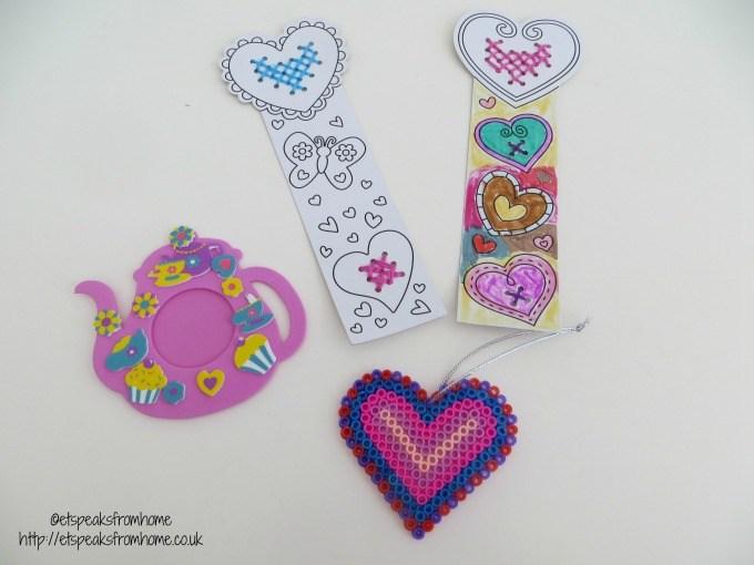 baker ross heart bookmark