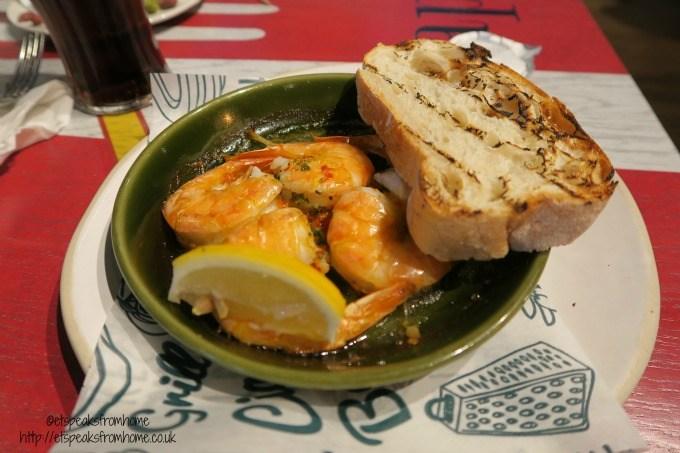bella italia prawn garlic
