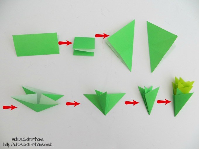 chinese new year pineapple leaves origami method