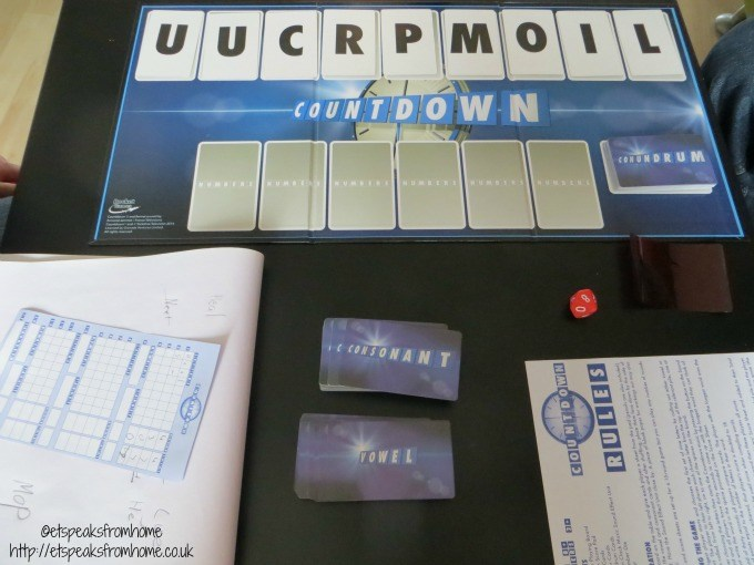 countdown board game play