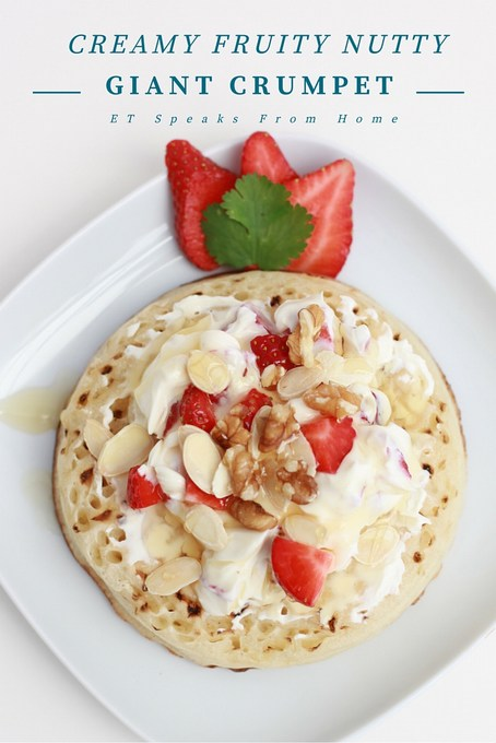 creamy fruit nutty giant crumpet