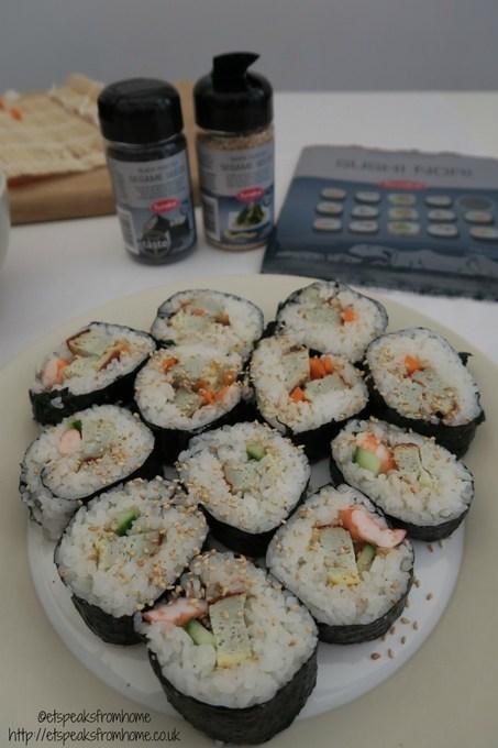 yutaka sushi with sesame seed