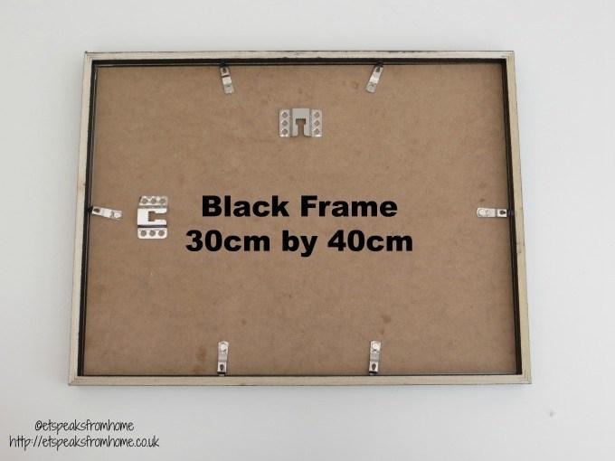 desenio black frame 30 cm 40 cm back