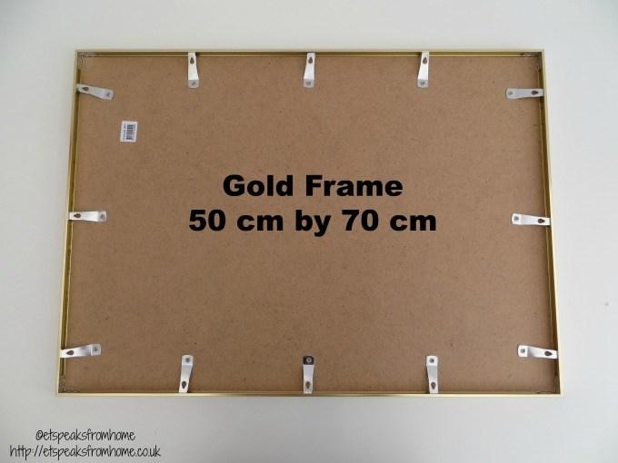 desenio gold frame 50cm 70cm back