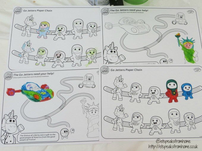 go jetters twitter party colouring sheets