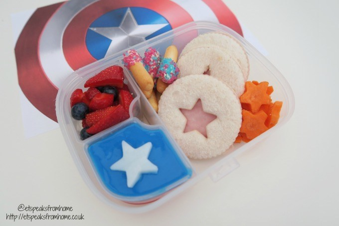 captain amercia civil war lunch box back to school