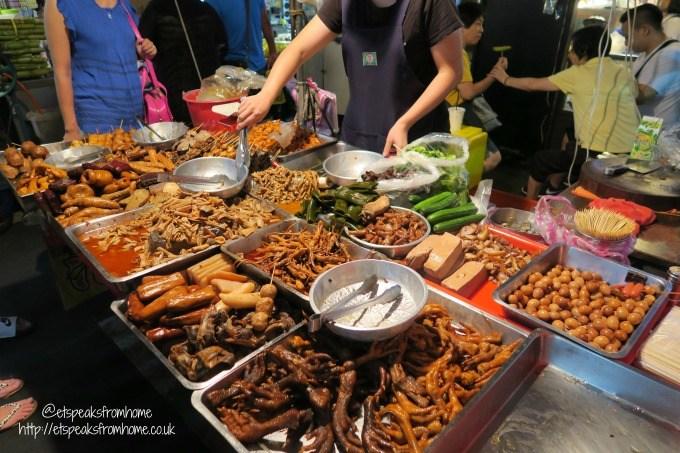 taiwanese local food in night market