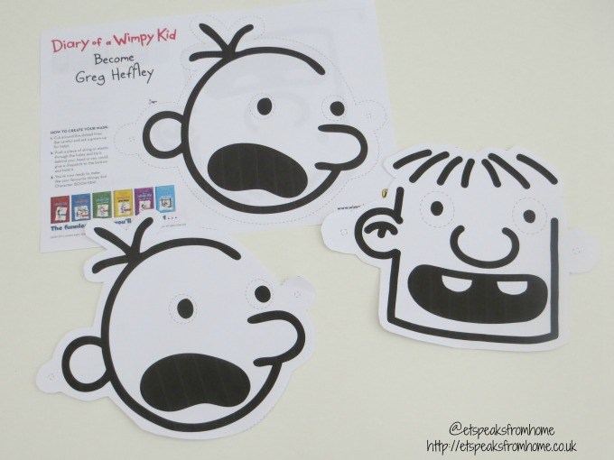 diary of a wimpy kid mask