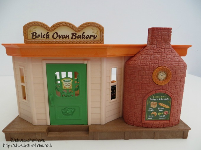 Sylvanian Families brick oven bakery shop front