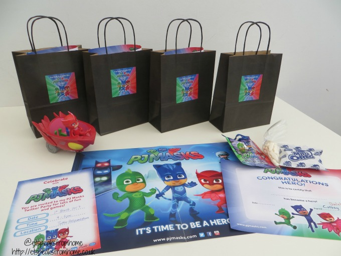 pj masks twitter party goody bag