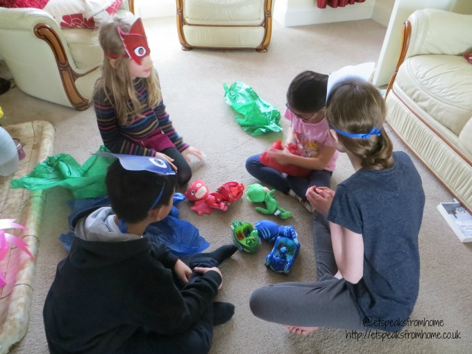 pj masks twitter party passing parcel